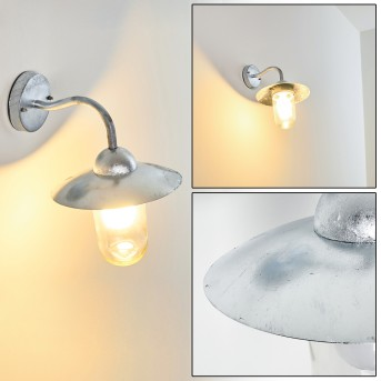 Maidiswil Aplique para exterior Plata, 1 luz