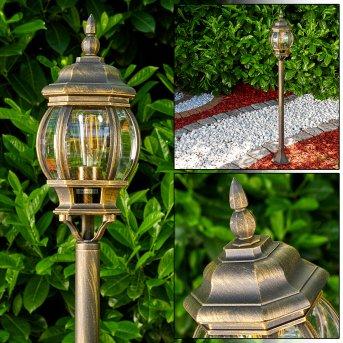Lentua Lámpara de pie para exterior Marrón, oro, 1 luz