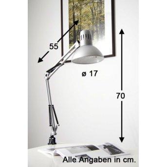 Brilliant Hobby Lámpara de lectura con pinza Acero inoxidable, Titanio, 1 luz