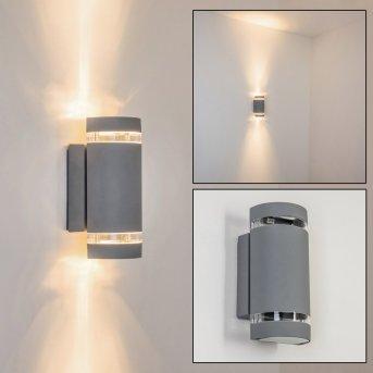 Tagish Aplique para exterior Plata, 2 luces