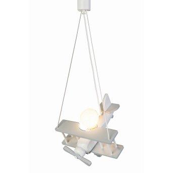 Waldi Flugzeug Lámpara Colgante Gris, Blanca, 1 luz