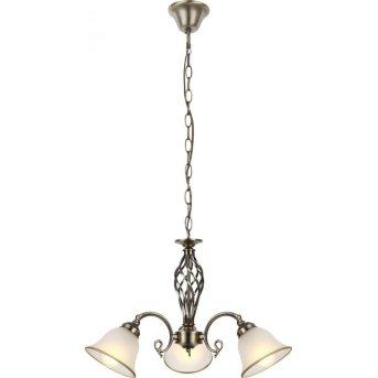 Globo Lámpara de araña Blanca, 3 luces