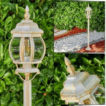 Lentua Lámpara de pie para exterior dorado, 1 luz