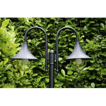Brilliant Berna Lámpara de pie para exterior Negro, 2 luces