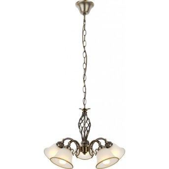 Globo Lámpara de araña Blanca, 5 luces