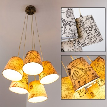 RANKIN Lámpara Colgante Níquel-mate, 5 luces