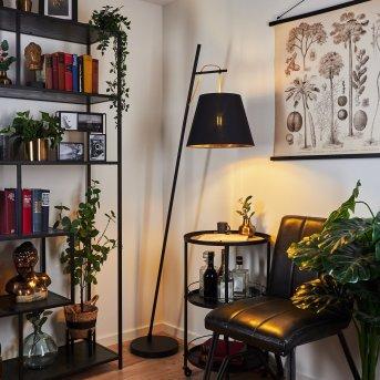 Saillon Lámpara de Pie Negro, 1 luz