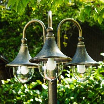 Elgin Candelabro Marrón, oro, 3 luces