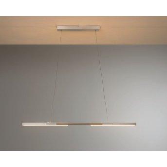 Bopp Link Lámpara Colgante LED Níquel-mate, Madera oscura, 1 luz