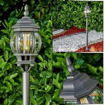 Lentua Lámpara de pie para exterior Negro, 1 luz