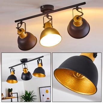 Borik Lámpara de Techo Negro, 3 luces