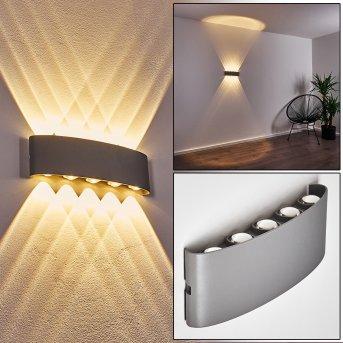 Abaiang Aplique para exterior LED Plata, 10 luces