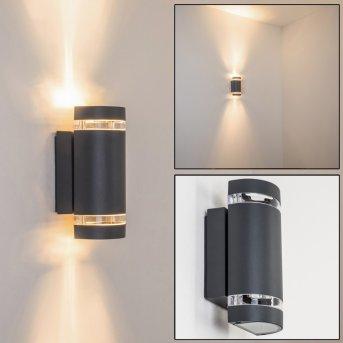 Tagish Aplique para exterior Antracita, 2 luces