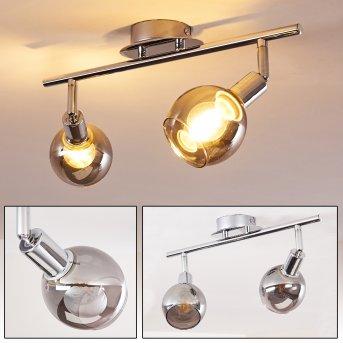 Stranderod Lámpara de Techo Cromo, 2 luces