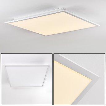 Salmi Lámpara de Techo LED Aluminio, Blanca, 1 luz