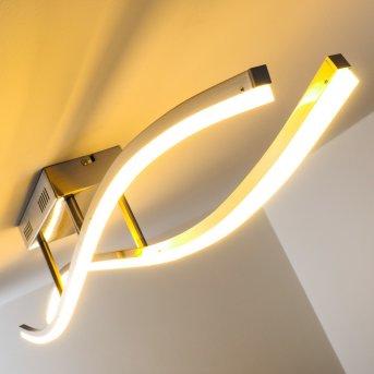 Atina Lámpara de techo LED Níquel-mate, 1 luz