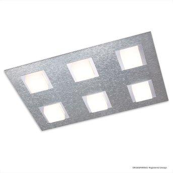 Grossmann BASIC Lámpara de Techo LED Aluminio, 6 luces