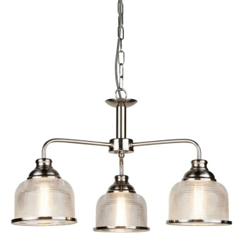 Lámpara de Techo Searchlight BISTRO Plata, 3 luces