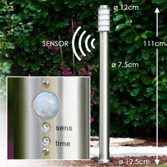 Tunes Iluminación de camino Acero inoxidable, 1 luz, Sensor de movimiento