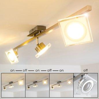 Kolari Foco de techo LED Níquel-mate, Cromo, 3 luces