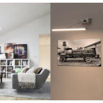 Faro Barcelona Magritte Aplique LED Níquel-mate, 1 luz