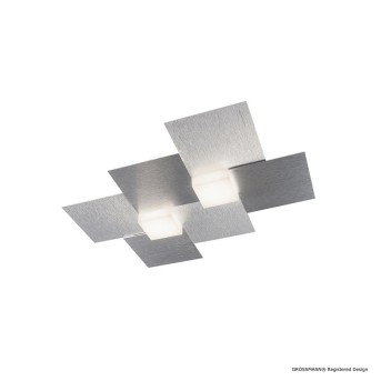 Grossmann CREO Lámpara de techo o pared LED Aluminio, 2 luces