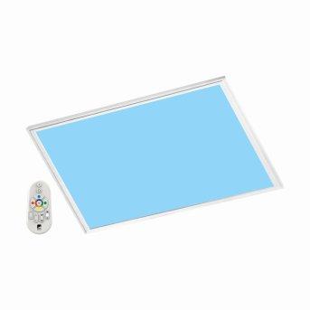 Eglo SALOBRENA-C Lámpara de techo para oficina LED Blanca, 1 luz, Mando a distancia, Cambia de color