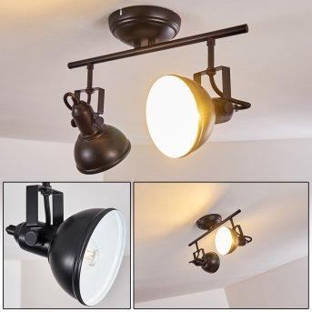 Tina Lámpara de Techo Negro, 2 luces