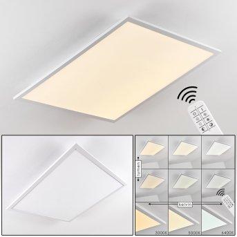 Salmi Lámpara de Techo LED Aluminio, Blanca, 1 luz, Mando a distancia