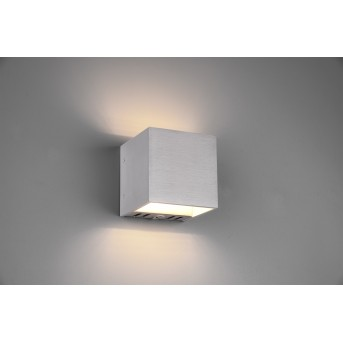 Trio Figo Aplique LED Aluminio, 1 luz, Mando a distancia, Cambia de color