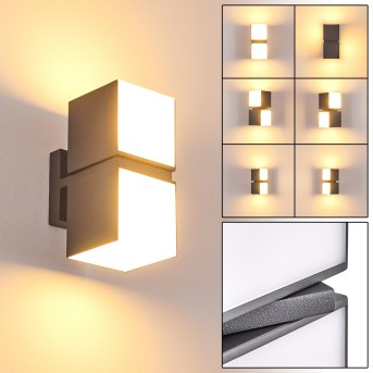 Swanek Aplique para exterior LED Antracita, 2 luces