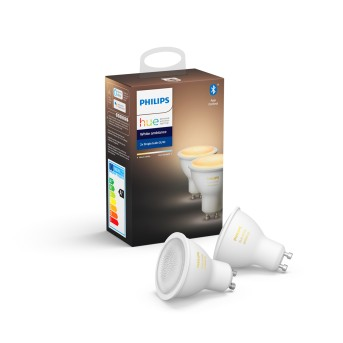 Philips Hue LED Set de 2 Ambiance White GU10 5,5 Watt 6500 Kelvin 350 Lumen