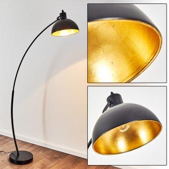 Parola Lámpara de Pie Negro, 1 luz