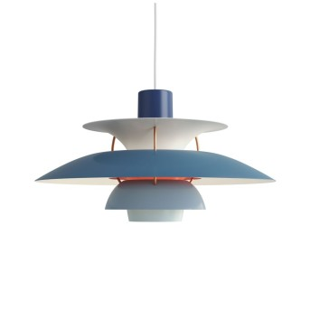 Louis Poulsen Lámpara Colgante Azul, 1 luz