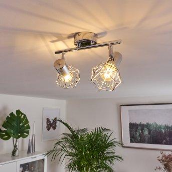 Globo Xara Foco de techo Cromo, 2 luces