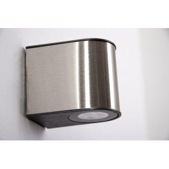 Lutec LED Aplique para exterior Acero bruñido, 6 luces