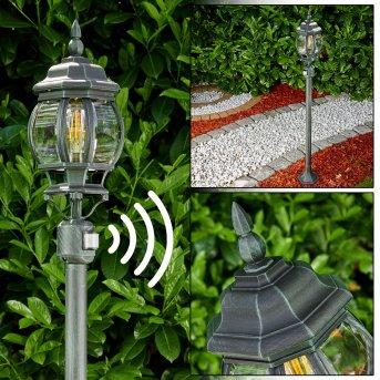 Lentua Lámpara de pie para exterior Negro, Verde, 1 luz, Sensor de movimiento