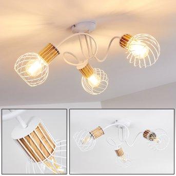 Koler Lámpara de Techo Blanca, 3 luces