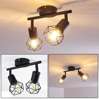 Baripada Lámpara de Techo Negro, 2 luces
