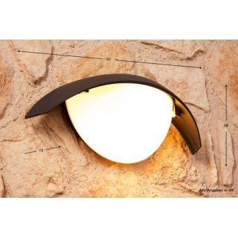 Lutec CLIP Aplique para exterior Negro, Antracita, 1 luz