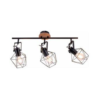 Leuchten-Direkt JARO Lámpara de Techo Madera clara, 3 luces