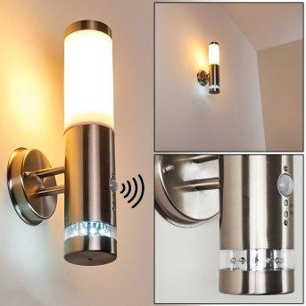 Walise Aplique para exterior Acero inoxidable, 1 luz, Sensor de movimiento