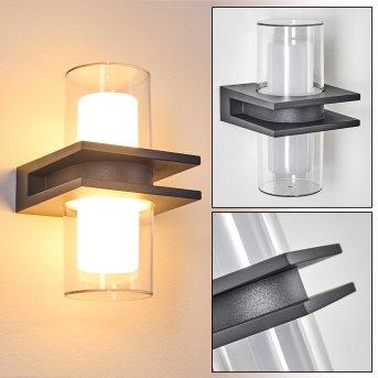 Kekenis Aplique para exterior LED Antracita, 1 luz