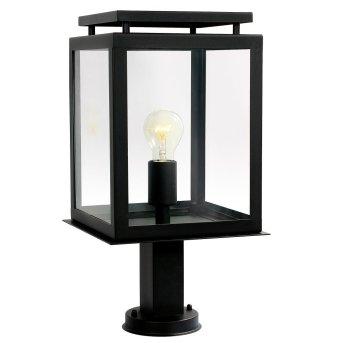 KS Verlichting De Vecht Poste de Jardín Negro, 1 luz