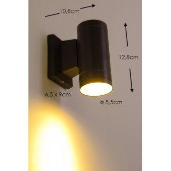 Globo LED Aplique para exterior Negro, 1 luz