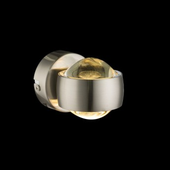 Globo Aplique LED Níquel-mate, 2 luces