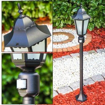 Hongkong Frost Lámpara de pie para exterior Negro, Sensor de movimiento