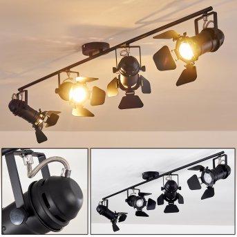 Lichinga Lámpara de Techo Negro, 4 luces