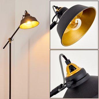 Luven Lámpara de Pie Negro, dorado, Negro-dorado, 1 luz