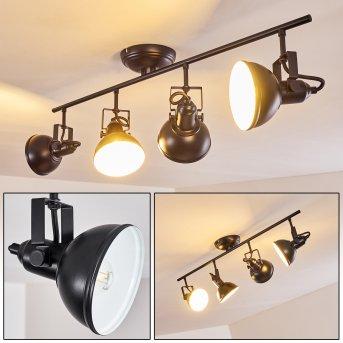 Tina Lámpara de Techo Negro, 4 luces